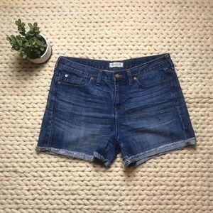 Madewell raw edge denim boy shorts